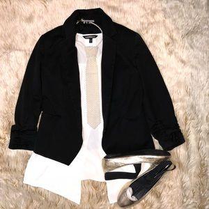 Express Black Quarter Sleeve Blazer